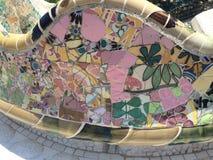 Parkowe Guell mozaiki obrazy royalty free