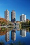 parkowi centrali reflexions Zdjęcie Royalty Free