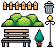 Parkowi elementy ilustracja wektor