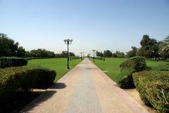 parkowy Dubai piękny widok uae al araba plaży emiratów mamzar panoramiczny park jednoczył widok obraz stock