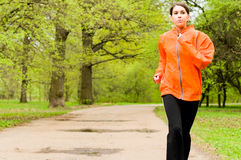 parkowy dziewczyna bieg zdjęcia royalty free