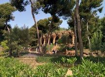 Parkowy GÃ ¼ ell Barcelona Hiszpania Obrazy Stock