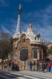Parkowy Guell, bajka dom, turystyczny punkt zwrotny w Barcelona zdjęcie royalty free
