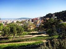 Parkowy Guell, Barcelona Zdjęcia Royalty Free
