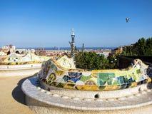 Parkowy Guell, Barcelona Zdjęcie Royalty Free