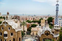 Parkowy guell i Barcelona Fotografia Royalty Free