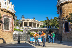 Parkowy Guell w Barcelona Obrazy Stock