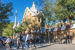 Parkowy Guell w Barcelona Obraz Stock