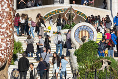 Parkowy Guell w Barcelona Obraz Royalty Free