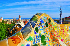 Parkowy Guell w Barcelona, Hiszpania Zdjęcia Royalty Free