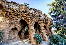 Parkowy Guell w Barcelona, nikt fotografia royalty free