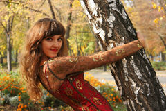 parkowy jesień portret Obrazy Royalty Free
