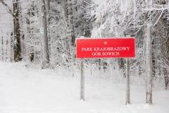 Parkowy Krajobrazowy Gor sowich, Polska Zdjęcia Stock