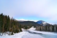 parkowy lodowa zachód Zdjęcie Stock