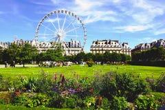 Parkowy na zewnątrz louvre w Paryż. Obraz Stock