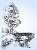 Parkowy nakreślenie ilustracja wektor