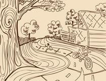 parkowy odtwarzanie royalty ilustracja