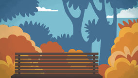 Parkowy plenerowy Wektorowy tło dla kreskówki, animacja, reklamuje, campaing Zdjęcia Stock