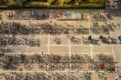 Parkowy rower w kampusie Obrazy Royalty Free
