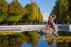 Parkowy Royal Palace w Wiedeń zdjęcia royalty free