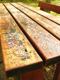 parkowy stół Fotografia Stock