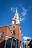 Parkowy Uliczny kościół - Boston, Massachusetts, usa Zdjęcia Stock