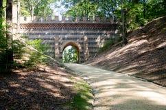 Parkowy Von Muskau, Muskauer lub FÃ ¼ rst-PÃ ¼ Parkowy park, Parkowy MuÅ ¼ akowski Obraz Royalty Free