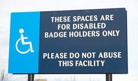 Parkplätze und Antrag über Missbrauch. Stockfotografie