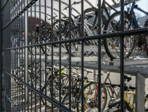 Parking for bicycles in the center of Berlin stock photos