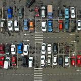 Parkplatz aerial quadrat stockbilder