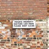 Parkplatz Doktoren Lizenzfreie Stockfotos