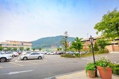 Parkplatz erstklassige Ausgänge Paju am 10. Mai 2017 im Paju-Si, Lizenzfreie Stockfotografie