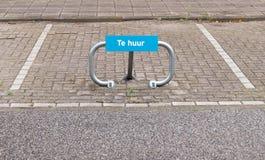 Parkplatz für Auto für Miete Lizenzfreie Stockbilder