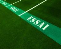 Parkplatz mit dem Schreiben von ESSAI Lizenzfreies Stockbild