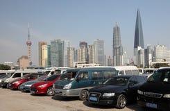 Parkplatz in Shanghai, China Lizenzfreie Stockfotos