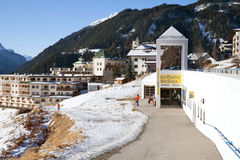 The parkplatz station of Serfaus Village Railway Royalty Free Stock Photography