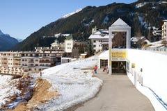 The parkplatz station of Serfaus Village Railway Royalty Free Stock Photography