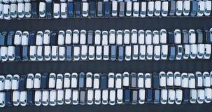 Parkplatz und LKW stock video footage