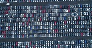 Parkplatz und LKW stock video