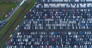 Parkplatz und LKW stock footage