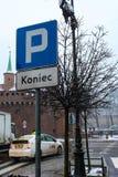 Parkplatz-Zeichen Lizenzfreie Stockfotos