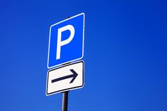 Parkplatzschild Stock Photography