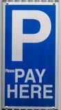 Parkplatzzeichen Stockbild