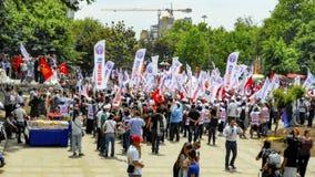 Parkprojektänderungswarteaktionen Taksim Gezi Stockbild