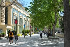 Parks of Baku city, Fountain Square Stock Image