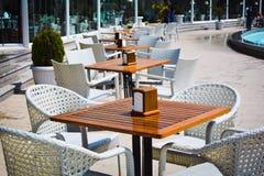 Parks of Baku, Winter Boulevard ,Cafe Stock Photos