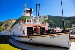 The S.S. Keno sternwheeler in Dawson City, Yukon. Parks Canada: S.S. Keno National Historic Site in Dawson City, Yukon royalty free stock photography