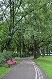 Parks at the Center of Riga stock photography