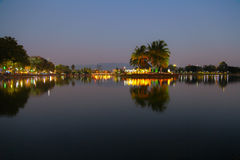 Parks evening Chanthaburi. Stock Photos