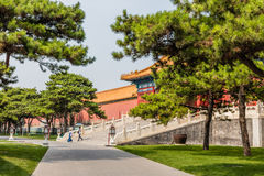 Parks of the Forbidden City or Gugong, Beijing, China Stock Photography